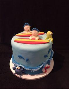 Bolo para Gemeos , cake Twins , cadê surf, bolo surfista .