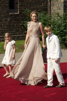 Princess Alexandra and her children at her sister's wedding in Bad Berleburg, Germany in 2011.