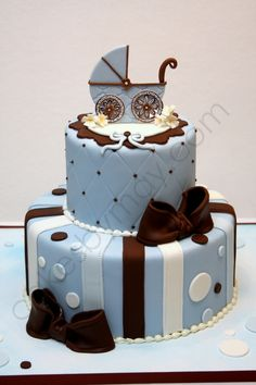 carriag babi, baby shower cakes, baby boys, baby shower cake for boy, baby blues, cake baby, baby cakes, babi shower, baby showers