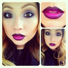 Ombre lips with candy yum-yum and.  nightmoth lipliner from mac~ MaryLove