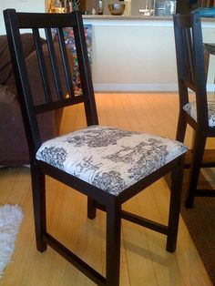 I just finished upholstering my Ikea stefan dining chairs