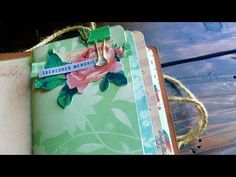 How I make my Midori Traveler Notebook style Junk Journals: Part one from the begin to the end - YouTube