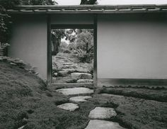 Katsura: Garden door behind the entrance, 1953/54 by Ishimoto Yasuhiro