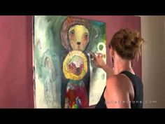 #JulietteCrane in her studio ~ video preview for ongoing online #serendipityclass