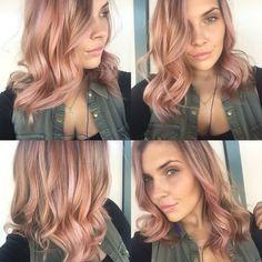 Rose gold hair! #rosegold #hair #longbob