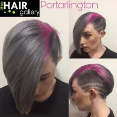 """68 Likes, 2 Comments - Louise McSharry (@2funki4wheelz) on Instagram: """"From faded blue to rich steely grey and vibrant pink. It's a process... #greyhairdontcare…"""""""