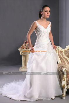 Glamoures Brautkleid A-Linie 2013 aus Organza