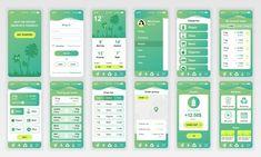 Ad: Mobile App UI Kit by alexdndz on Set of UI, UX, GUI screens app flat design template for mobile apps, responsive website wireframes. App Ui Design, Web Design Grid, Application Ui Design, Design Android, Interaktives Design, Web Design Mobile, Clean Web Design, Design Plat, Application Mobile