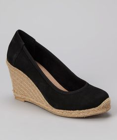 Take a look at this Black Blake Wedge by Me Too on #zulily today!