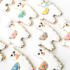 2 Dozen Llama Decorated Sugar Cookies for Birthday Parties and | Etsy