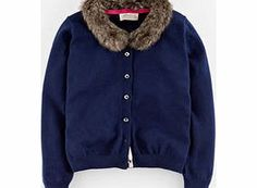 Johnnie  b Scarlett Cardigan, Navy/Fur Collar 34422733 A new fashion knit to transform an okay outfit into an ace one. Comes in a punky leopard print or a glam option with detachable faux fur collar, both with plenty of punch. http://www.comparestoreprices.co.uk/kids-clothes--girls/johnnie-b-scarlett-cardigan-navy-fur-collar-34422733.asp