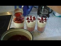 Jahodové poháry - YouTube Panna Cotta, Pudding, Make It Yourself, Ethnic Recipes, Youtube, Food, Puddings, Youtubers, Meals