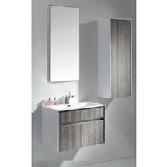Eviva Evvn12 36ash Ashy Wall Mount Bathroom Vanity High Gloss Ash Gray With White Integrated