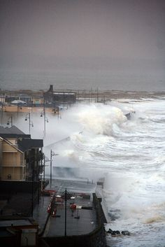 Tramore High Tide, Waterford, Ireland