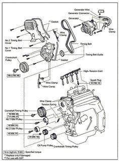 A E C Eb Ec B D E Bcbe Timing Belt Toyota Camry
