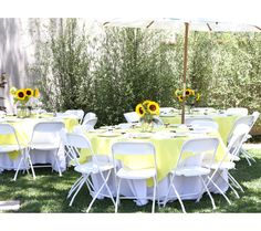 Backyard Baby Shower Ideas backyard baby shower by dish wish photos by megan welker 100 layer cakelet Gender Neutral Baby Shower Decor I Love The Sunflowers On The Tables