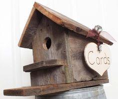 Wedding Card Box Birdhouse Rustic Wedding- Barn Wedding- Burlap Wedding Decor