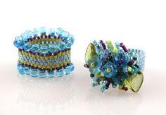 pretty flower bead  ring