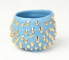Takuro Kuwata - Sky-slipped Gold-drips bowl