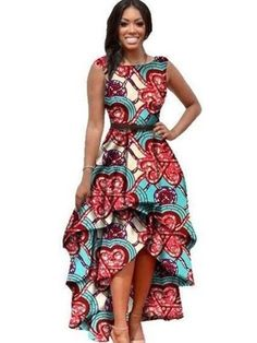 product image robe, african clothes for women o-neck african dashiki dresses cotton dress sleeveless african print dress big size natural African Dresses For Women, African Print Dresses, African Attire, African Wear, African Fashion Dresses, African Women, African Prints, Ghanaian Fashion, African Clothes