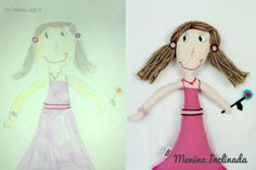 Menina Inclinada makes custom toys from children's drawings!
