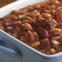 Slow simmered calico beans!!!