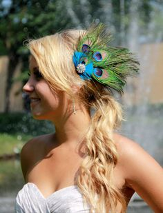 30% off sale ends soon! Get one now!Peacock bridal fascinator hair accessory wedding by kathyjohnson3