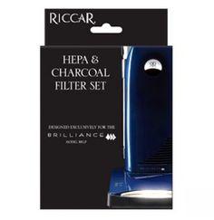 Riccar Brilliance Premium HEPA Media and Electrostatic/Charcoal Filter Set >>>#Riccar #VacuumFilters
