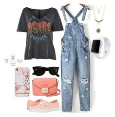 """""""Voltage ⚡️⚡️"""" by paytton-white on Polyvore featuring Topshop, Vans, Longchamp, Ray-Ban, Charlotte Russe and Apple"""