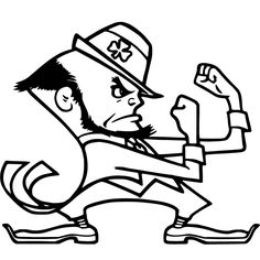 notre dame fighting irish coloring pages - green bay packers logo american football team of the nfc