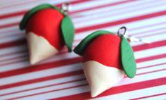 polymer clay luna lovegood dirigible plum earrings, harry potter earrings, luna lovegood earrings, radish earrings, turnip earrings by CMYKlays on Etsy https://www.etsy.com/listing/207611084/polymer-clay-luna-lovegood-dirigible