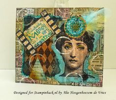 Alie Hoogenboezem-de Vries: Mixed Media card with Stampinback.nl stamps