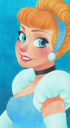 Manga Style Disney Princess by Chihiro Howe Cinderella