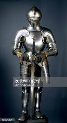 Horseman's armor in steel decorated with engravings, made in Lombardy in late 16th century, Italy, 16th century