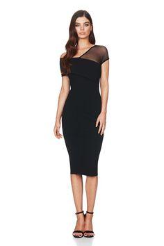 Black Sin City Midi : Buy Designer Dresses Online at Nookie