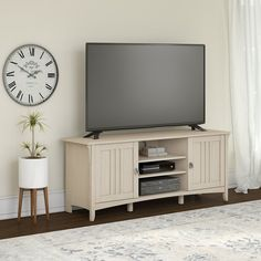 60 Inch Contemporary White TV Stand - Salinas | RC Willey Furniture Store