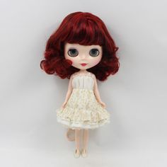 12-Neo-Nude-Wine-Red-Short-Hair-Blythe-doll-From-Factory-JSW51001