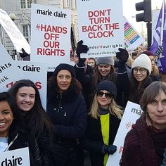 #Repost @marieclaireuk with @repostapp Marie Claire magazines participated in @womensmarch yesterday all over the world to stand up for women's right and not let any man to diminish it. #womensrightsarehumanrights #womensmarchonwashington #womensmarch2017 Did you spot us at today's #womensmarch? Tweet us photos of your placards - we spotted some good'uns! #handsoffourrights  via MARIE CLAIRE INDONESIA MAGAZINE OFFICIAL INSTAGRAM - Celebrity  Fashion  Haute Couture  Advertising  Culture…