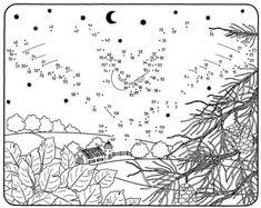 Malen nach Zahlen: Fliegende Eule zum Ausmalen