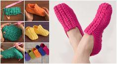 Puff Stitch Unisex Slippers Tutorials