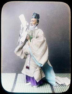 Shinto priest, ca. 1890 by Kimbei Kusakabe