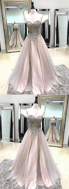 Long Prom Dresses #LongPromDresses, Champagne Prom Dresses #ChampagnePromDresses, Prom Dresses 2019 #PromDresses2019