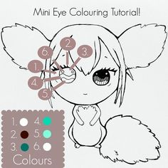 Hi Everyone!✨🐇✨ So I just wanted to share a mini tutorial with you about how I colour eyes on my chibis! I know it's not the best picture but I hope it's helpful for some! I find painting while filming really hard as I just get so absorbed in the process holding the little guys right up to my face and do a lot of back and forth steps to fix up mistakes, so I thought this would at least show the areas of the eyes and what colour they are painted - Watching my 'How I make Mermaids' video on…
