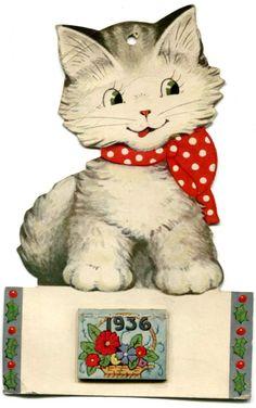 Kitten-Cat Calendar 1936