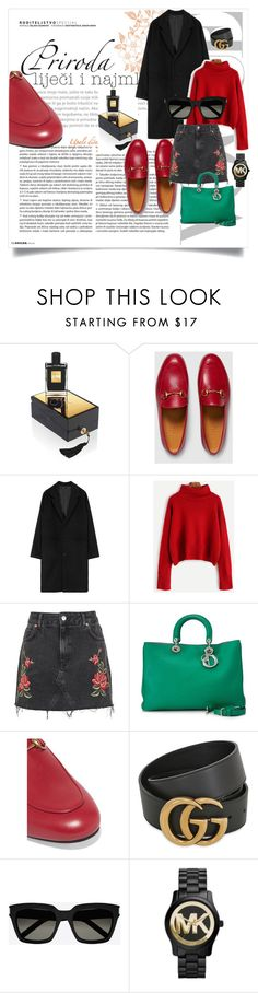 """#killianlover"" by sabilatifova ❤ liked on Polyvore featuring Kilian, Gucci, Topshop, Christian Dior, Yves Saint Laurent and Michael Kors"