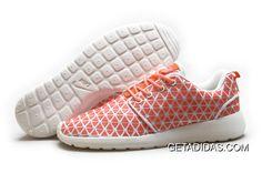 d665d9002e11b Womens Nike Roshe Run Kpu Orange White Shoes TopDeals