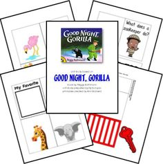 Goodnight Gorilla Lesson Plan Lapbook Printables; matches: The 20th Century Children's Book Treasury from the Sonlight Preschool Program