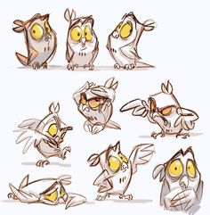ideas for bird cartoon animation Character Design Cartoon, Drawing Cartoon Characters, Character Sketches, Character Design Animation, Character Design References, Character Drawing, Character Design Inspiration, Cartoon Drawings, Cartoon Bird Drawing