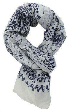 Deb Shops woven scarf with #paisley #print $7.63