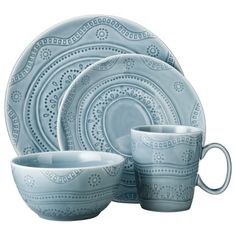 Threshold™ 16 Piece Kennet Azure Dinnerware Set - Blue